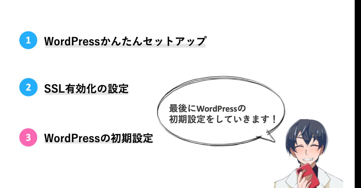 手順③:WordPressの初期設定をする(1時間くらい)